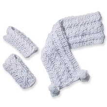 Isaac Mizrahi® CRAFT™ Carlyle Cable Mitts (Crochet)